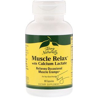 EuroPharma, Terry Naturally, Muscle Relax with Calcium Lactate, 90 Capsules