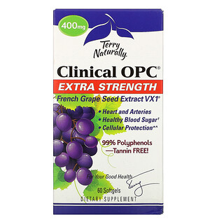 Terry Naturally, Clinical OPC, Extra Strength, 400 mg, 60 Softgels