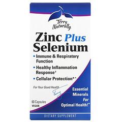Terry Naturally, Zinc Plus Selenium, 60 Vegan Capsules