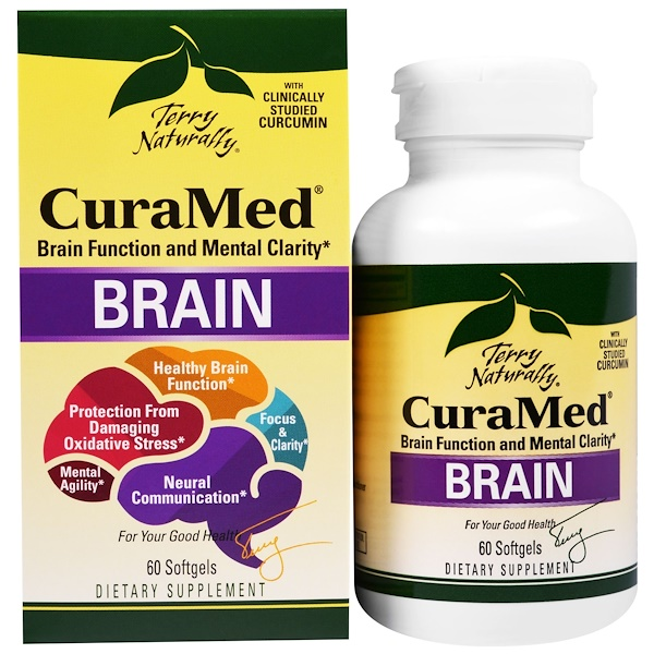 EuroPharma, Terry Naturally, CuraMed для мозга, 60 мягких желатиновых капсул (Discontinued Item)