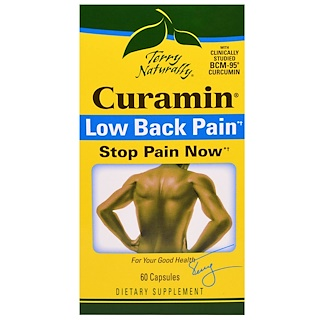 EuroPharma, Terry Naturally, Curamin, Low Back Pain, 60 Capsules