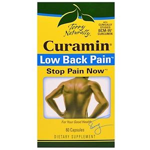 EuroPharma, Terry Naturally, Curamin, Боль в пояснице, 60 капсул