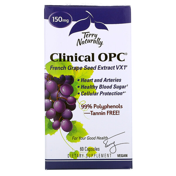Clinical OPC, Suplemento alimentario, 150 mg, 60 cápsulas