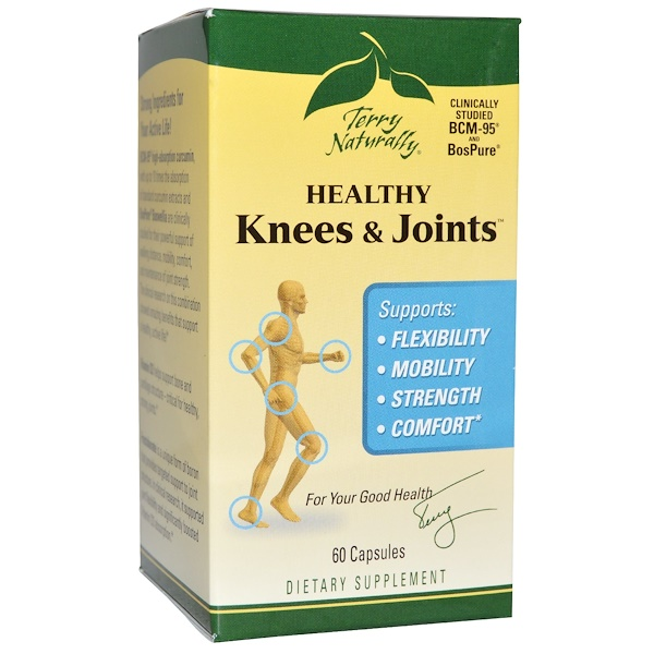 EuroPharma, Terry Naturally, Terry Naturally, Healthy Knees & Joints, здоровые колени и суставы, 60 капсул (Discontinued Item)
