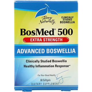 EuroPharma, Terry Naturally, BosMed 500, Potencia Extra, Boswellia Avanzada, 500 mg, 60 cápsulas blandas