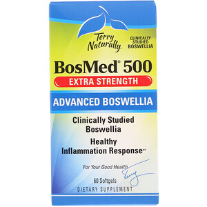 Terry Naturally, BosMed 500, Extra Strength, Advanced Boswellia, 500 mg, 60 Softgels отзывы
