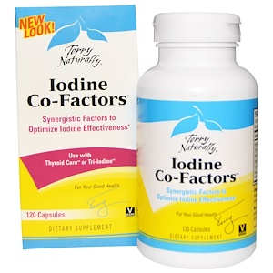Terry Naturally, Iodine Co-Factors, 120 Capsules отзывы