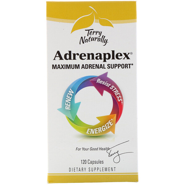EuroPharma, Terry Naturally, Adrenaplex, Maximum Adrenal Support, 120 Capsules