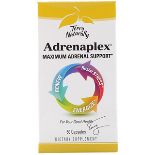 EuroPharma, Terry Naturally, Adrenaplex, Maximum Adrenal Support, 60 Capsules