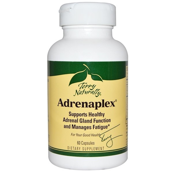 EuroPharma, Terry Naturally, Terry Naturally, Adrenaplex, 60 Cápsulas