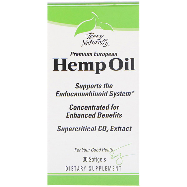 EuroPharma, Terry Naturally, Hemp Oil, 30 Softgels