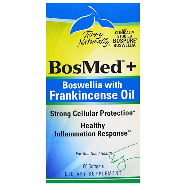 Terry Naturally, BosMed + Bowellia with Frankincense Oil, 60 Softgels (Discontinued Item)