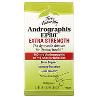 Terry Naturally, Andrographis EP80, Extra Strength, 60 Capsules