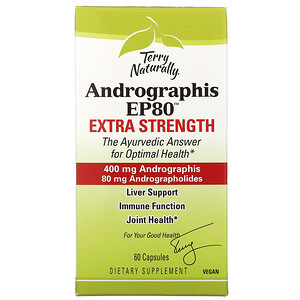 Terry Naturally, Andrographis EP80, Extra Strength, 60 Capsules'