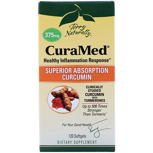 Terry Naturally, CuraMed, 375 mg, 120 Softgels отзывы