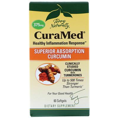 Купить Terry Naturally, CuraMed, 375 мг, 60 желатиновых капсулы