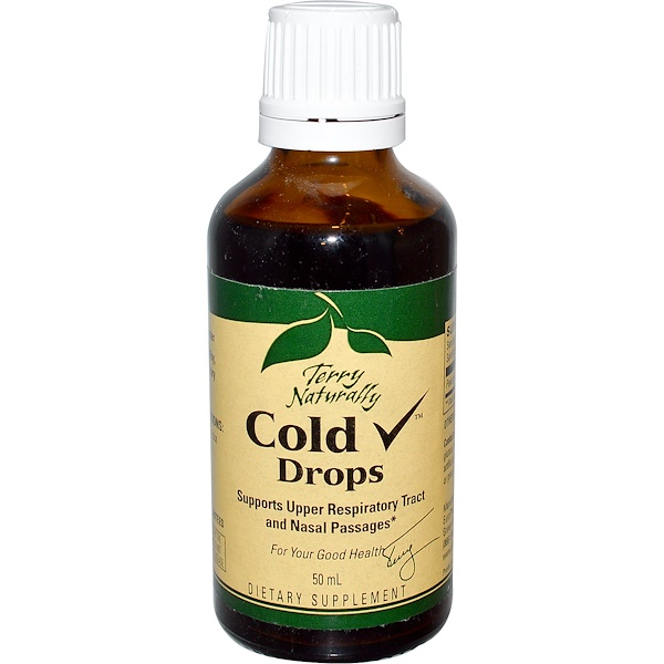 EuroPharma, Terry Naturally, Terry Naturally, Cold Drops, 50 ml (Discontinued Item)