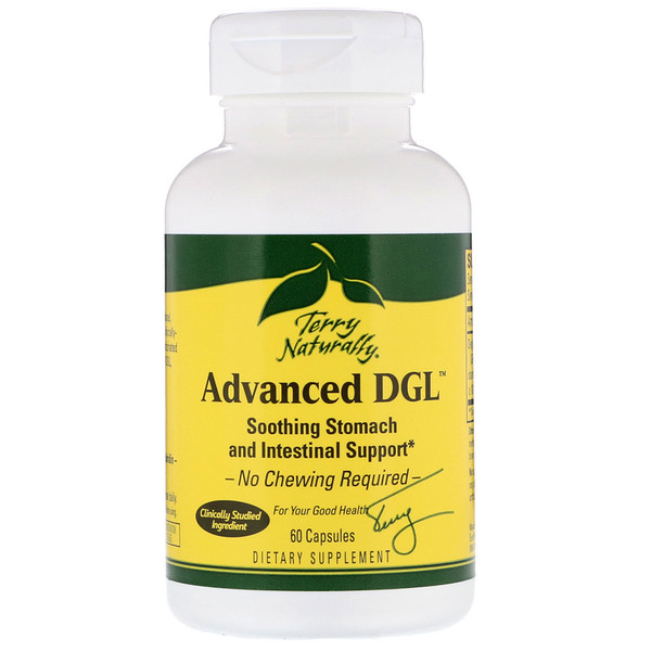 EuroPharma, Terry Naturally, Advanced DGL, 60 Capsules