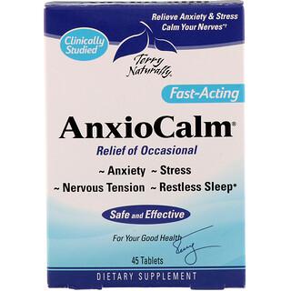 EuroPharma, Terry Naturally, AnxioCalm, 45 Tablets