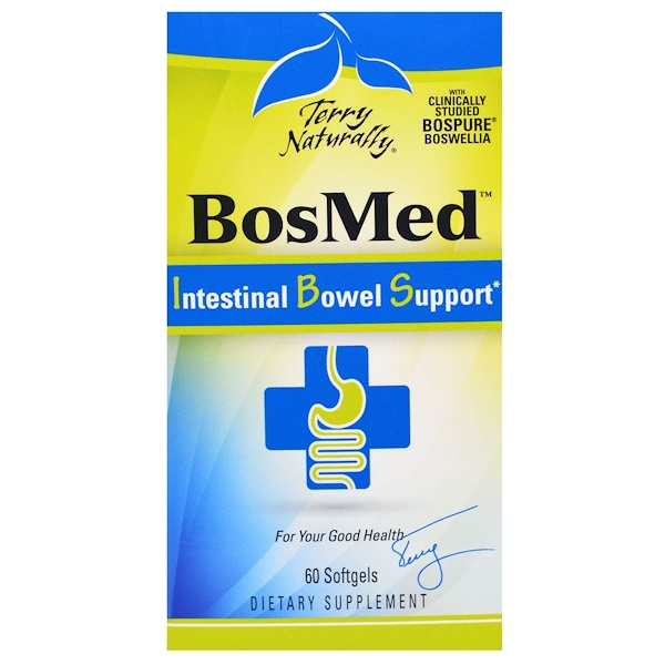 Terry Naturally, BosMed Intestinal Bowel Support, 60 Softgels (Discontinued Item)
