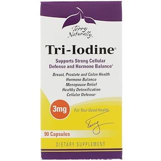 EuroPharma, Terry Naturally, Tri-Iodine, 3 mg, 90 Capsules
