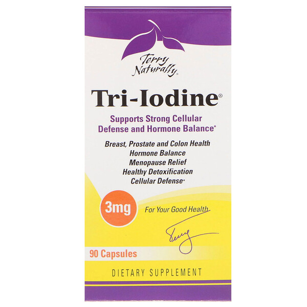 Terry Naturally, Tri-Iodine, 3 mg, 90 Gélules