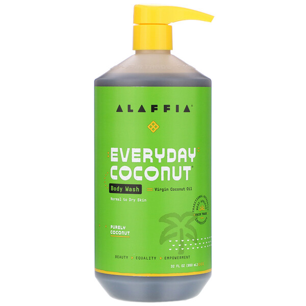 Everyday Coconut, Body Wash, Normal to Dry Skin, Purely Coconut, 32 fl oz (950 ml)