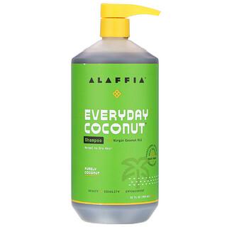 Alaffia, Everyday Coconut, Shampoo, Normal to Dry Hair, Purely Coconut, 32 fl oz (950 ml)