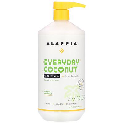 Купить Alaffia Everyday Coconut, Conditioner, Normal to Dry Hair, Purely Coconut, 32 fl oz (950 ml)