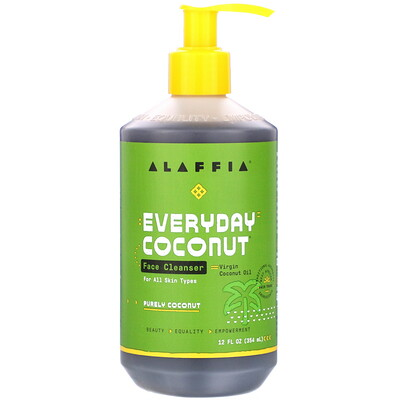 Everyday Coconut, Face Cleanser, Purely Coconut, 12 fl oz (354 ml) недорого