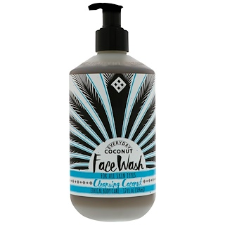 Everyday Coconut, Face Wash, For All Skin Types, Cleansing Coconut, 12 fl oz (354 ml)