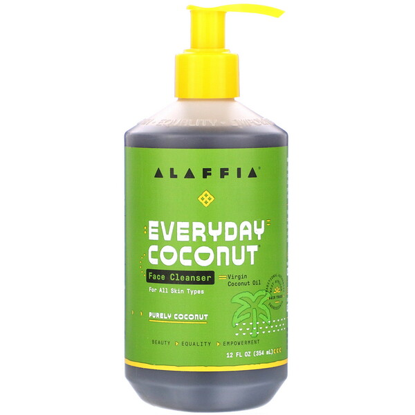 Alaffia, Everyday Coconut, Face Cleanser, Purely Coconut, 12 fl oz (354 ml)