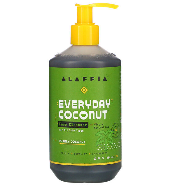 Alaffia, Everyday Coconut, Face Cleanser, 12 fl oz (354 ml)