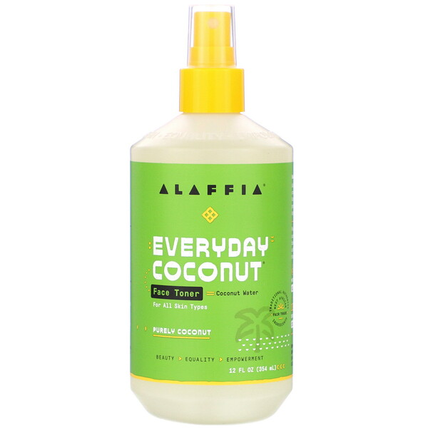 Alaffia, Everyday Coconut, Face Toner, Purely Coconut, Normal to Dry Skin, 12 fl oz (354 ml)