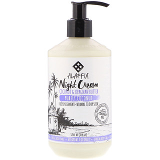 Everyday Coconut, Night Cream, Purely Coconut, 12 fl oz (354 ml)