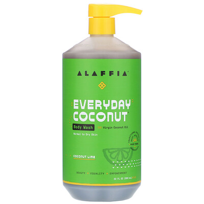 Everyday Coconut, Body Wash, Normal to Dry Skin, Coconut Lime, 32 fl oz (950 ml)