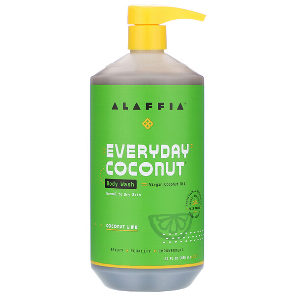 Alaffia, Everyday Coconut, Body Wash, Normal to Dry Skin, Coconut Lime, 32 fl oz (950 ml)