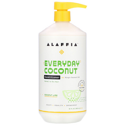 Everyday Coconut, Conditioner, Normal to Dry Hair, Coconut Lime, 32 fl oz (950 ml) недорого