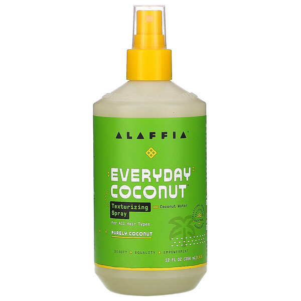 Alaffia, Everyday Coconut, Texturing Spray, Purely Coconut, 12 fl oz (354 ml)