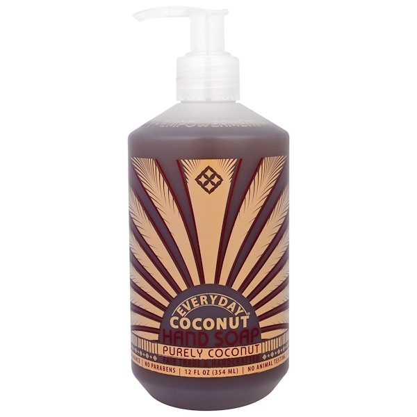 Everyday Coconut, 洗手液,純椰子,12液盎司(354毫升)