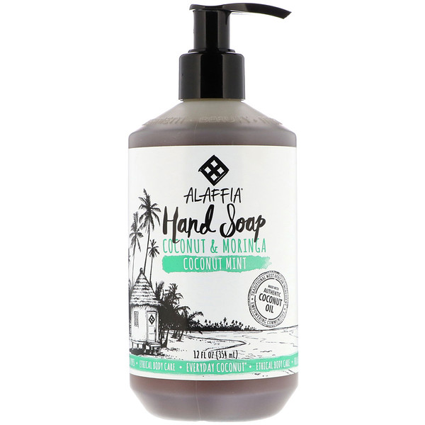 Alaffia, Everyday Coconut, Hand Soap, Coconut Mint, 12 fl oz (354 ml)