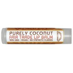Everyday Coconut, Fair Trade Lip Balm, Purely Coconut, 0.15 oz (4.25 g)