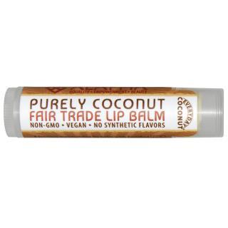 Everyday Coconut, Fair Trade Lip Balm, Purely Coconut, 0.15 oz (4.25 g)
