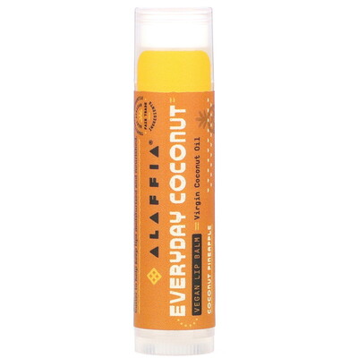 Everyday Coconut, Vegan Lip Balm, Coconut Pineapple, 0.15 oz (4.25 g)