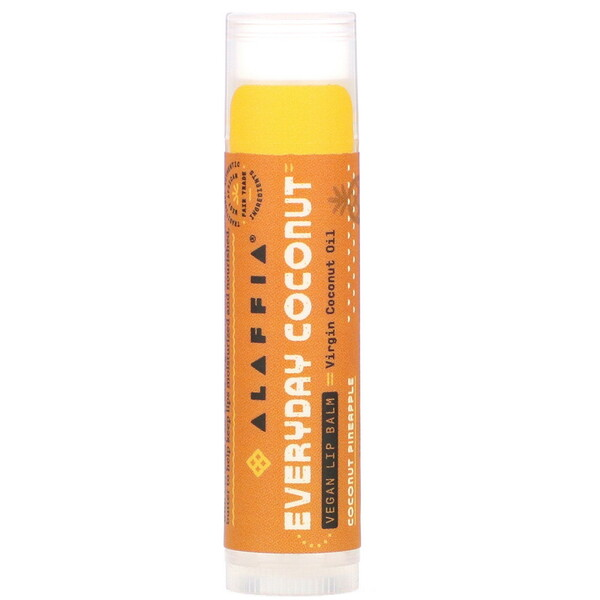Everyday Coconut, Bálsamo labial vegano, Coco y piña, 4,25 g (0,15 oz)