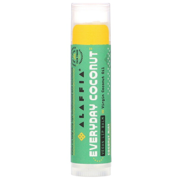 Alaffia, Everyday Coconut, Vegan Lip Balm, Coconut Mint, 0.15 oz (4.25 g)