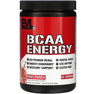 EVLution Nutrition, BCAA ENERGY, Fruit Punch, 10.16 oz (288 g)