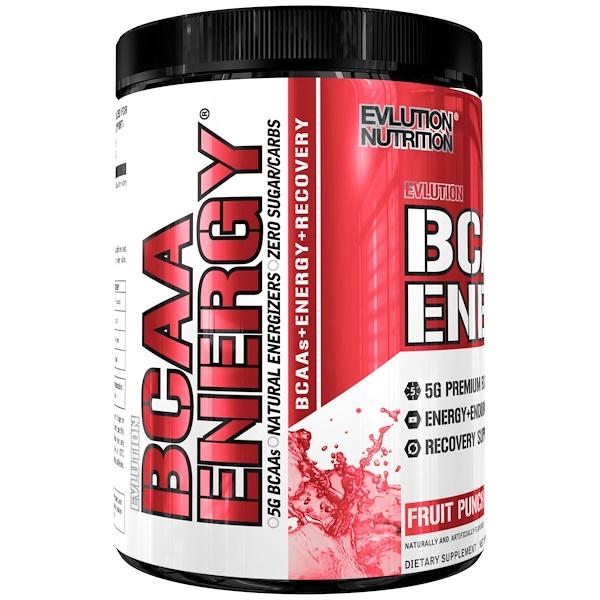 EVLution Nutrition, BCAA Energy, Fruit Punch, 10.2 oz (288 g)