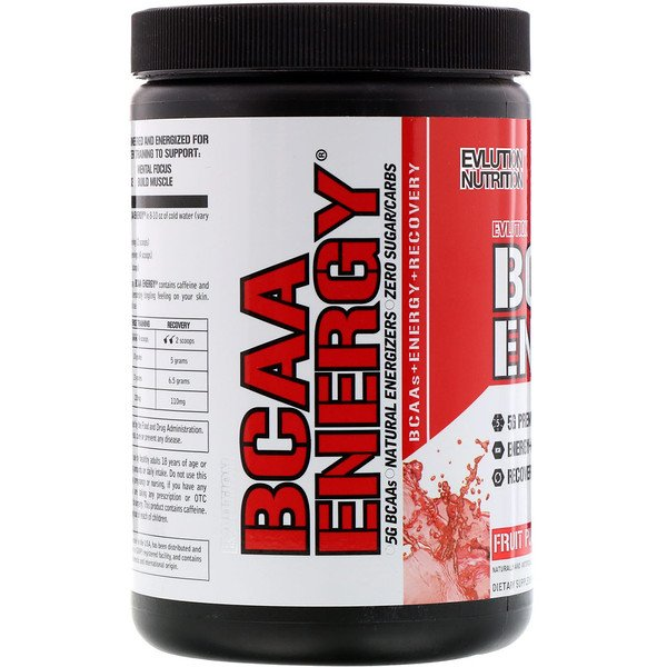 EVLution Nutrition, BCAA Energy, Fruit Punch, 10.2 oz (288 g)