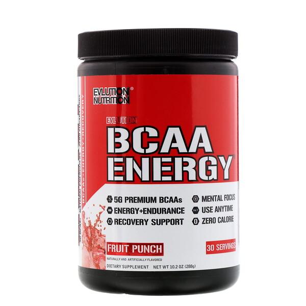 BCAA Energia, Frutas, 10,2 oz (288 g)